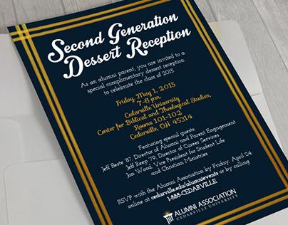 Collegiate Dessert Reception Invitation