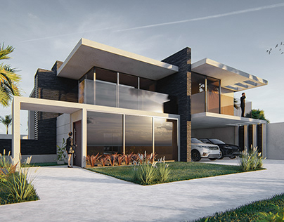 Modern Villa Rendering & Visualization |