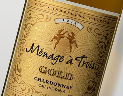 Ménage à Trois Gold - Brand & Package Design