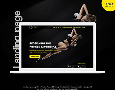 Premier Personal Training_Landing Page Design