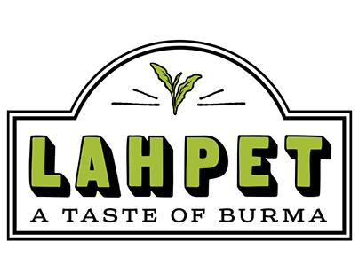 Lahpet: A Taste of Burma - branding & menu
