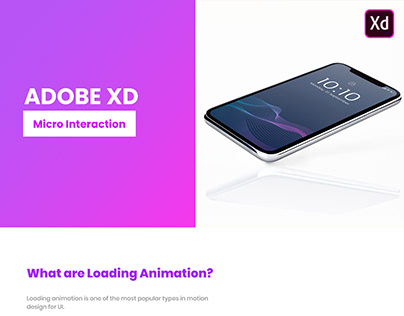 Adobe xd Micor Interactions (loading)