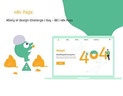 Daily UI Design Challenge | Day - 08 | 404 Page
