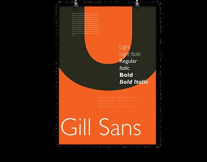 Typographic Broadside: Gill Sans