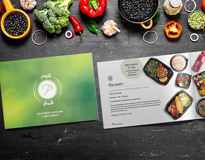 Simple&Fresh: healthy food program brochure