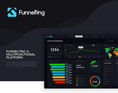 Funnelting. UI/UX Design web app.