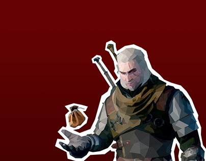 Low-Polygon Wallpaper - The Witcher 3: Wild Hunt