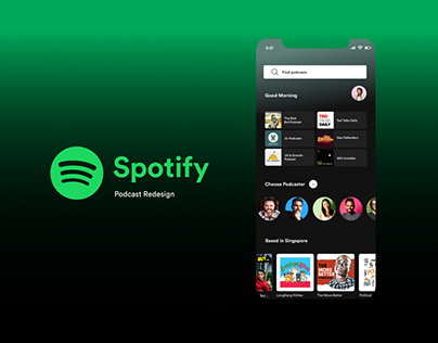 Spotify Podcast Redesign