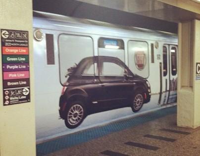 FIAT Chicago Train Wrap