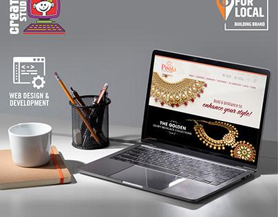 Pooja Jewels - Website Designing, Branding