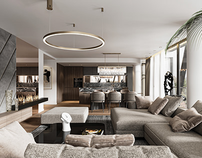 Luxury interior design vizualisation CGI