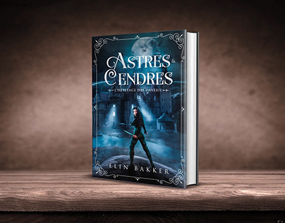 Astres & Cendres book cover design