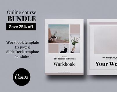 Online course BUNDLE Canva templates