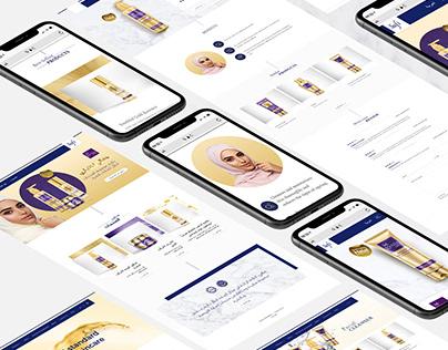 Safi Arabia Skin Care Website Design
