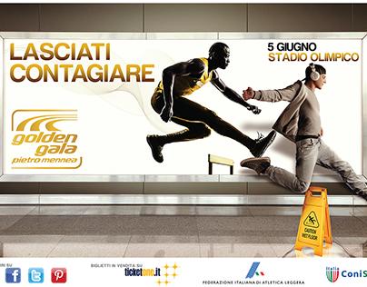 Campagna pubblicitaria per Golden Gala Pietro Mennea