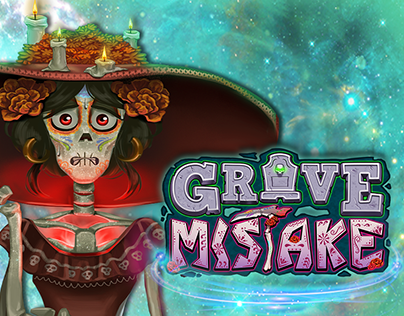 Grave Mistake Logo and Popup Designs - Casino Game
