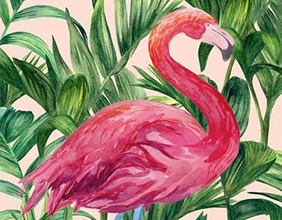 Estampa Flamingo