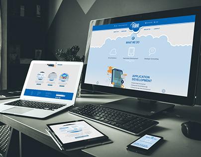 Nube Systems website concept design