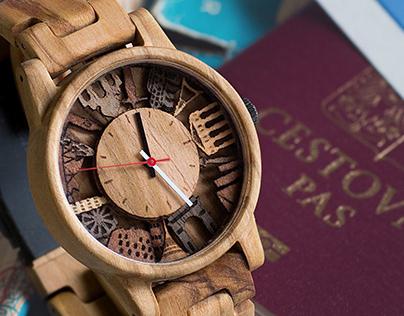 DOKOLA - limitovaná edice dřevěných hodinek