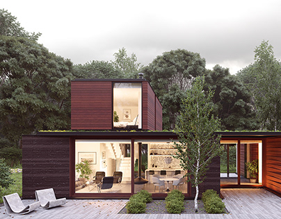 CG Remake of Pleated House by J. Schmaling Architects