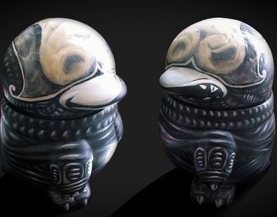 双面异形QQ公仔 Double-sided Alien QQ