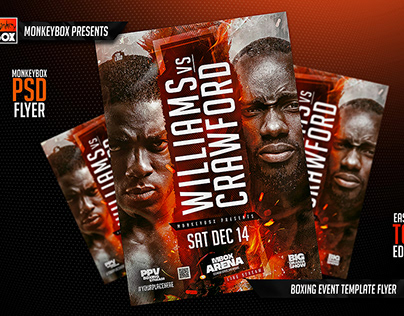 Boxing Event Template Flyer