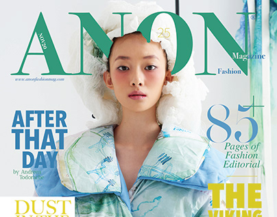 ECHO new cover for ANONfashion mag
