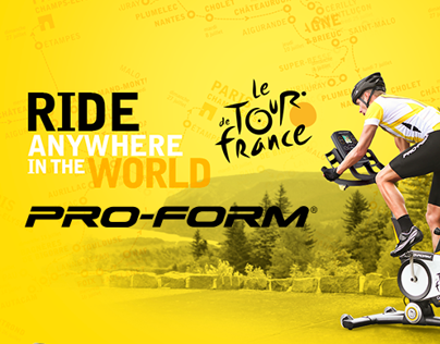 Site UK Proform Le Tour de France - Webdesign