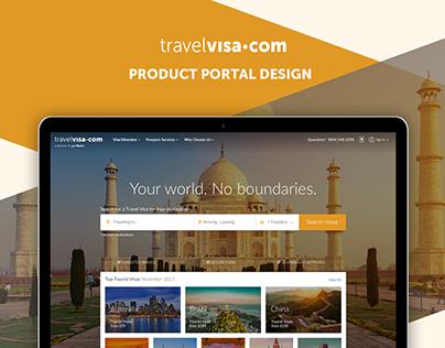 TravelVisa.com Portal Design