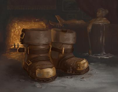 Heavy Boots - Card Illustration