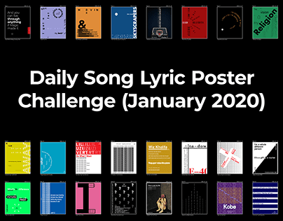 Daily Song Lyric Poster Challenge (January 2020)