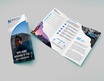 Travel agancy trifold brochure