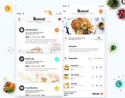 Restaurant Application Ui