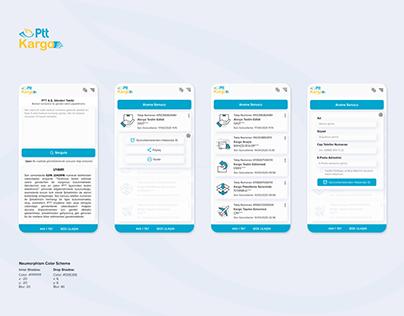 PTT Kargo Takip UI Design Webview