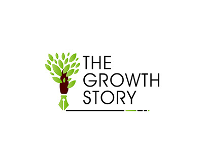 "LOGO DEVELOPMENT FOR CLIENT "" THE GROWTH STORY"""