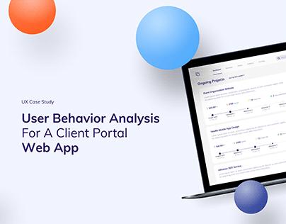 User behaviour analysis for a Web App