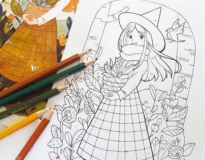 Cosy Colouring Pages