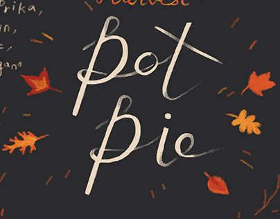 Harvest Pot Pie recipe illustration
