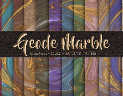 Geode Marble Digital Papers