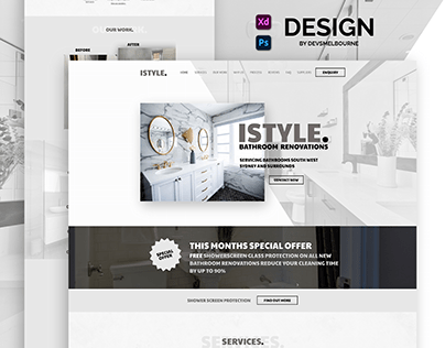 iStyle Bathroom Renovation Web Design - devsMelbourne