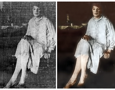 Restoration from a photocopy of a photograph (c 1915)