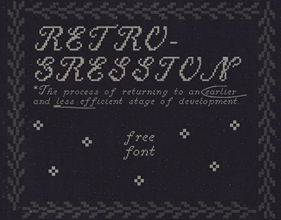 RETROGRESSION - FREE FONT