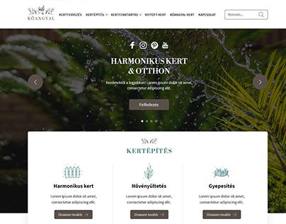 Kőangyal webdesign