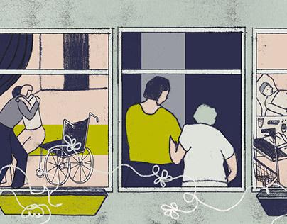 Editorial Illustration on Care Work