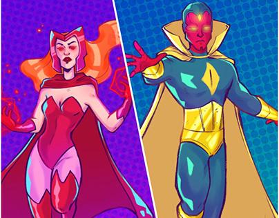 WandaVision Character Illustrations