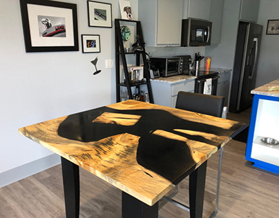 Spalted Maple Epoxy Resin River Table