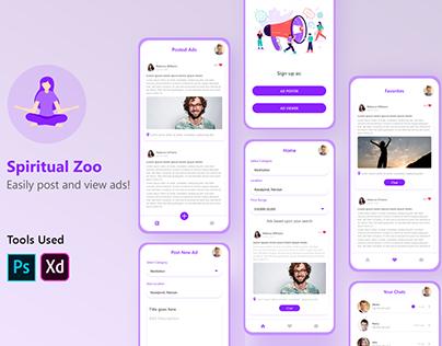 Spiritual Zoo Mobile App UI/UX Design