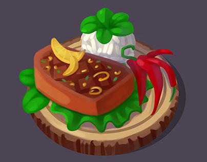 3 уровня блюд
