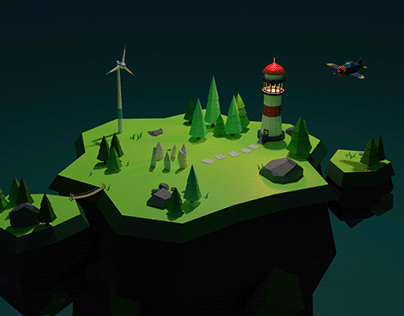 Low Poly 3D Island in Blender