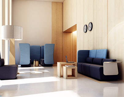 3d visualization / interior design-office furniture 02